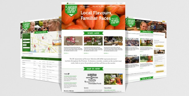 Ministry of Agriculture Farmer's Market website portal design.