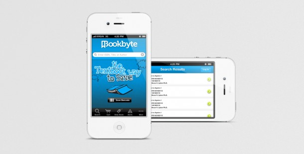 Bookbyte's mobile strategy includes a mobile app and a responsive mobile website.