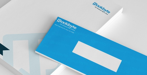 Bookbyte's redesigned stationery.
