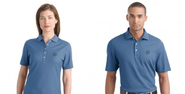 Brand launch event: management were given new company polos.