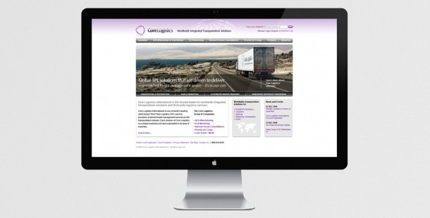Core Logistics redesigned website homepage