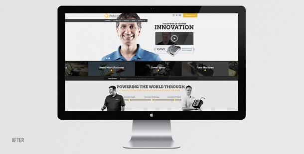 "Delta-Q's redesigned website focused on the company's new ""Power of Human Innovation"" brand positioning."