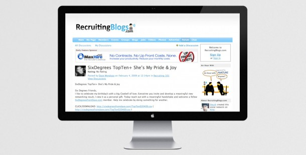 """Banner ads targeted new leads on recruiting websites to promote MaxHire's integrated """"Safety Net"""" campaign"""