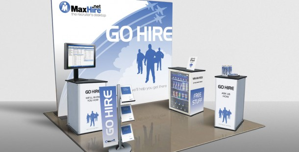 """MaxHire's first ever trade show display was the catalyst for the """"Go Hire"""" campaign launch"""