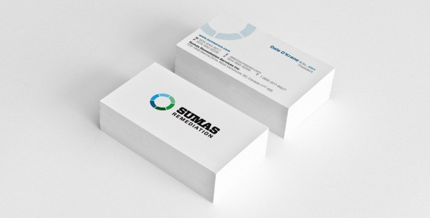 Sumas Remediation's new business cards.